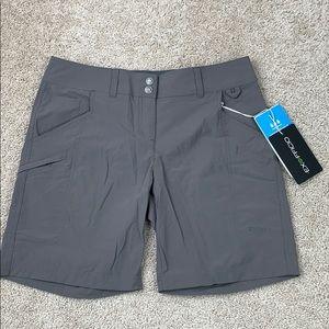 NWT Exofficio slate gray nomad shorts sz 2